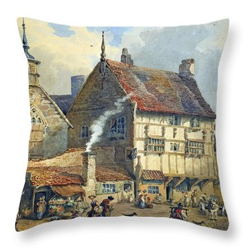 Old Houses And St Olaves Church Throw Pillow by George Shepherd
