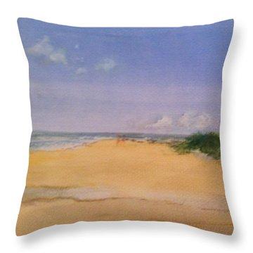 Old Hunstanton Beach Throw Pillow