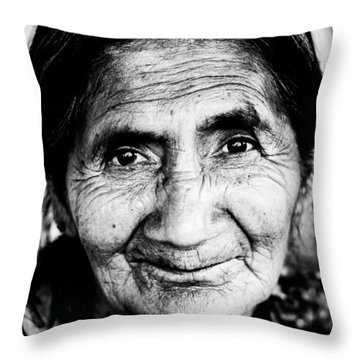 Abuelita Throw Pillow by Parker Cunningham