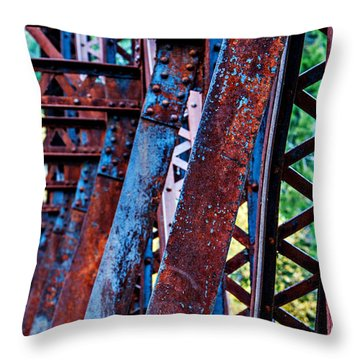 Old Iron Throw Pillow