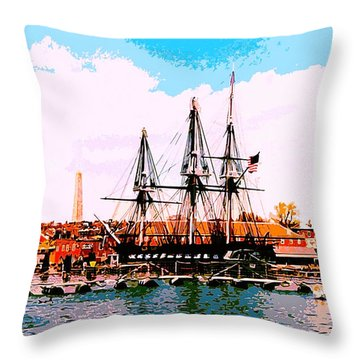 Old Ironsides Throw Pillow