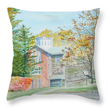 Old Jail Throw Pillow by Christine Lathrop