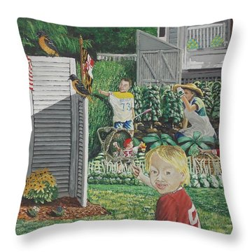 Old Jersey Throw Pillow