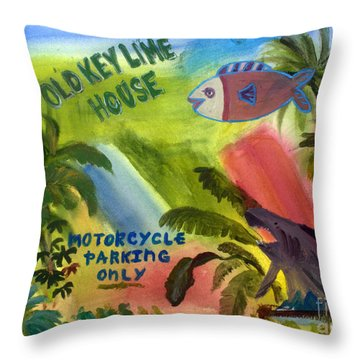 Old Key Lime House Throw Pillow