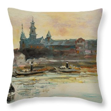 Old Krakow Throw Pillow