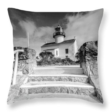 Throw Pillow featuring the photograph Old Light House by Robert  Aycock
