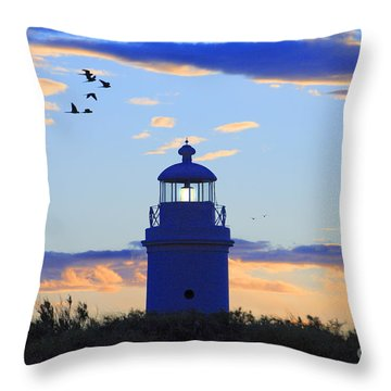 Old Lighthouse Throw Pillow by Bernardo Galmarini