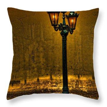 Old Lima Street Lamp Throw Pillow