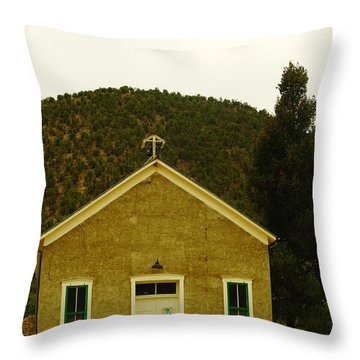 Old Lincoln City Church Throw Pillow by Jeff Swan