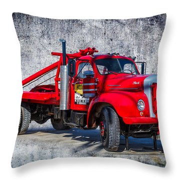 Old Mack Truck Throw Pillow by Doug Long