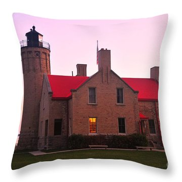 Throw Pillow featuring the photograph Old Mackinac Point Lighthouse by Terri Gostola