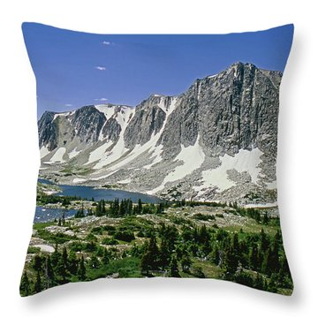 M-09702-old Main Peak, Wy Throw Pillow
