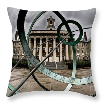 Old Main Through The Armillary Sphere Throw Pillow