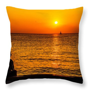 Throw Pillow featuring the photograph Old Man And The Sea by Aloha Art