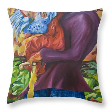 Old Man Collecting Sticks - But Not On The Sabbath Throw Pillow