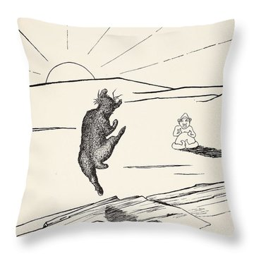 Old Man Kangaroo Throw Pillow by Rudyard Kipling