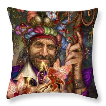Old Man Of The Woods Throw Pillow by Ciro Marchetti