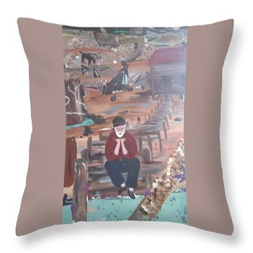 Old Man Throw Pillow