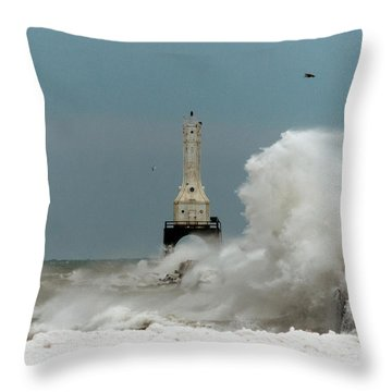 Old Man Winter Throw Pillow