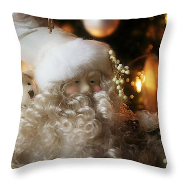 Old Man Winter Throw Pillow by Katie Wing Vigil