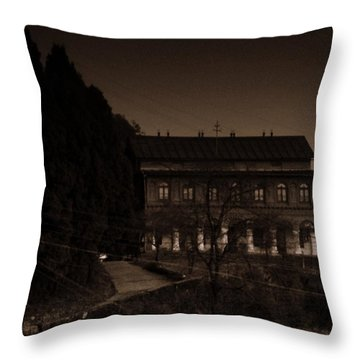 Old Mansion Throw Pillow by Salman Ravish