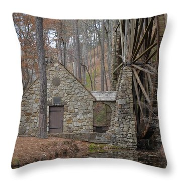 Old Mill In The Fall Throw Pillow