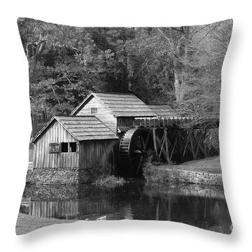 Virginia's Old Mill Throw Pillow by Eric Liller