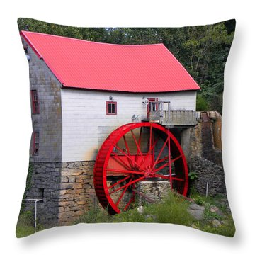 Throw Pillow featuring the photograph Old Mill Of Guilford by Sandi OReilly