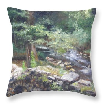Old Mill Steam II Throw Pillow