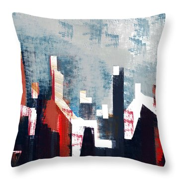 Old Miners Row Throw Pillow by Andrew Penman