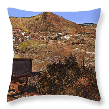 Old Mining Town No.24 Throw Pillow by Mark Myhaver