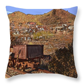 Old Mining Town No.24 Throw Pillow