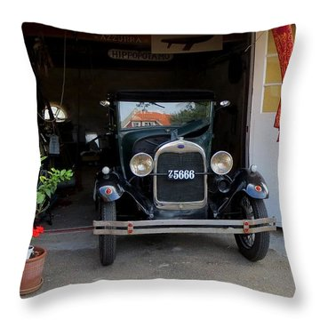 Old Mobile Throw Pillow
