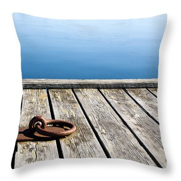 Throw Pillow featuring the photograph Old Mooring Loop by Kennerth and Birgitta Kullman