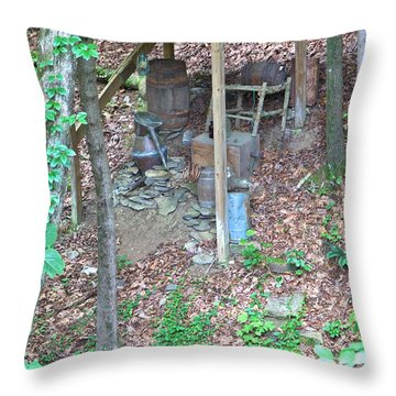 Old Mountain Still Throw Pillow
