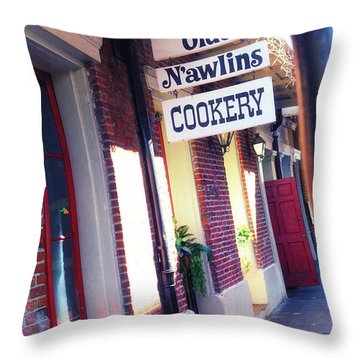 Throw Pillow featuring the photograph Old Nawlins by Erika Weber