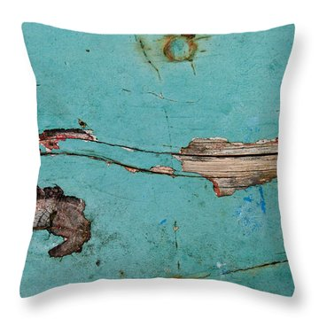 Throw Pillow featuring the photograph Old Ocean - Abstract by Jani Freimann
