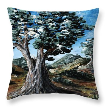 Old Olive Tree Throw Pillow by Anastasiya Malakhova