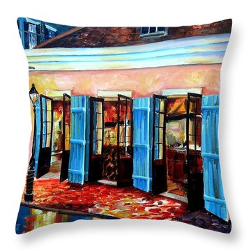 New Orleans House Throw Pillows