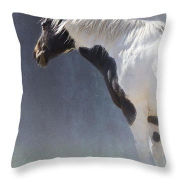 Old Paint Throw Pillow by Betty LaRue