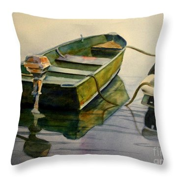 Old Pal Throw Pillow by Marilyn Jacobson