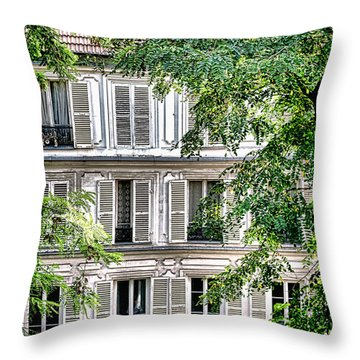 Old Parisian Building Throw Pillow