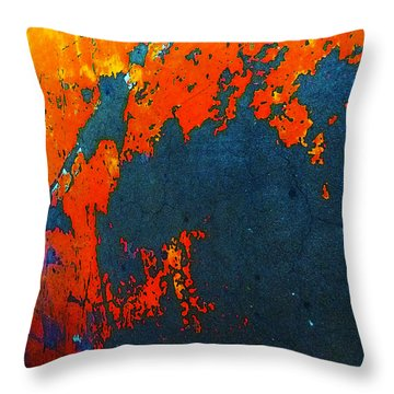 Old Parking Garage Floor 4b Throw Pillow