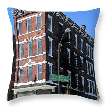 Old Penn Hotel - Johnstown Pa Throw Pillow