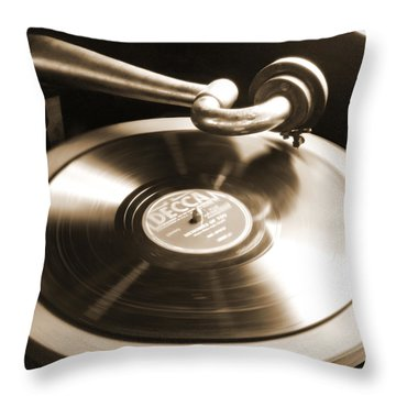 Old Phonograph Throw Pillow by Mike McGlothlen
