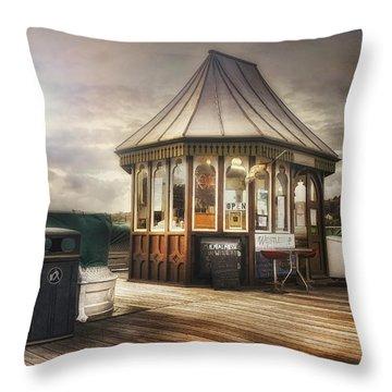 Old Pier Shop Throw Pillow