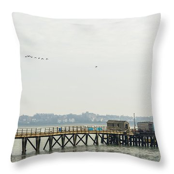 Old Pier Throw Pillow by Svetlana Sewell