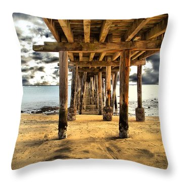 Old Pillar Point Pier Throw Pillow