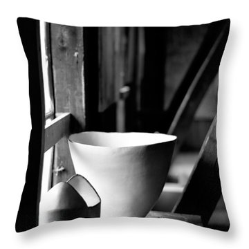 Old Pots At The Window Throw Pillow by Tommytechno Sweden