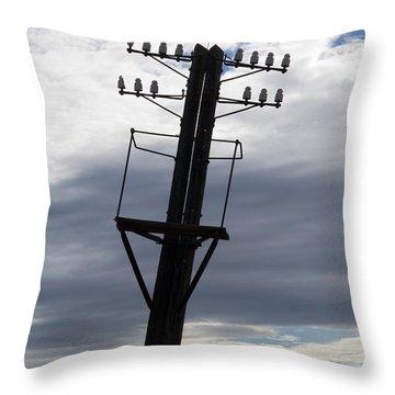 Old Power Pole Throw Pillow